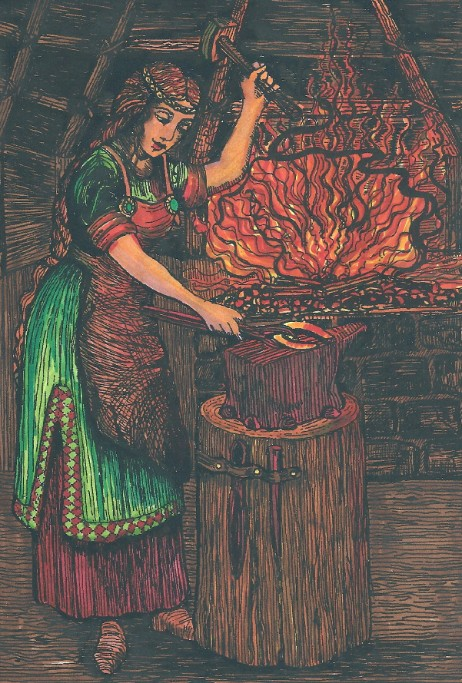 Brigid at Her Forge